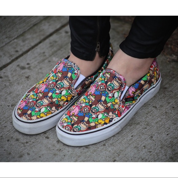 szczegóły dla najlepiej kochany niska cena Vans x Nintendo Mario Slip On Sneakers NWT